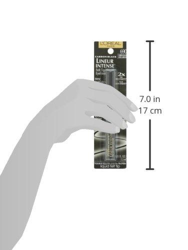 L'Oréal Paris Lineur Intense Felt Tip Liquid Eyeliner, Carbon Black, 0.05 fl. oz.