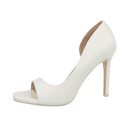 G70273 Ital bout à design ouvert Chaussures Weiß pour femmes BnORwBAPg