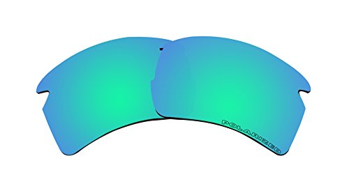Polarized Lenses Replacement for Oakley Flak 2.0 XL Sunglasses Emerald Green Mirror - Oo9188 08