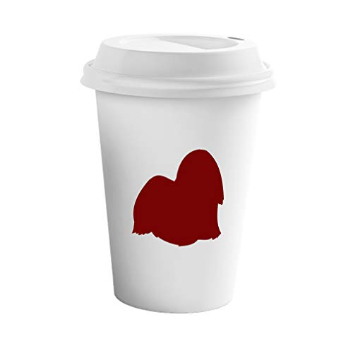 - Style In Print Maroon Lhasa Apso Silhouette Ceramic Coffee Tumbler Travel Mug