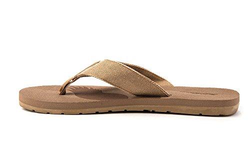 Basta Velocità Mens Libertà Aquila Patriota Infradito Scivolare Su Sandali Classico Cool Moda Casual Elegante Ogni Giorno Beige