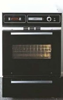 Summit-TEM721DK-24-Single-Electric-Wall-Oven-with-Storage-Drawer-Oven-Window-Clock-with-Timer-Oven-Light-and-Chrome-Handle-in