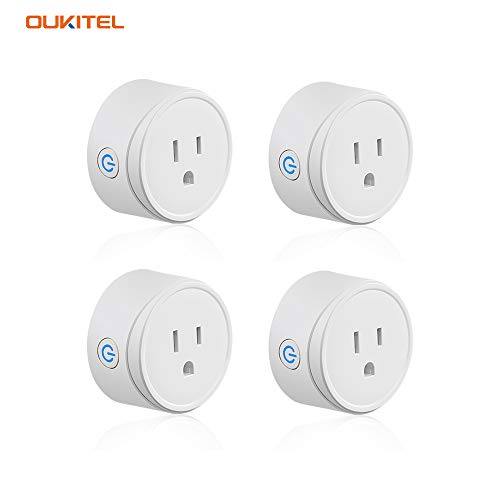 WiFi Smart Plug socket for use with Alexa Echo/Google Home/IFTTT, OUKITEL X6P smart socket, remote control, timer, no hub required, Listed - 4 Pack -  OUKITEL Official Store, OKP7