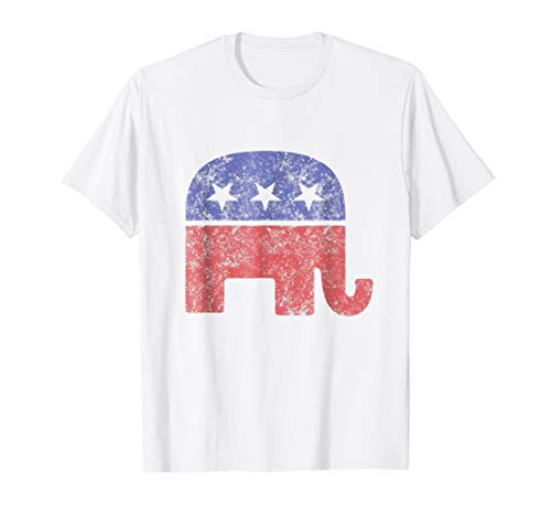 Republican Elephant Vintage Logo T-Shirt