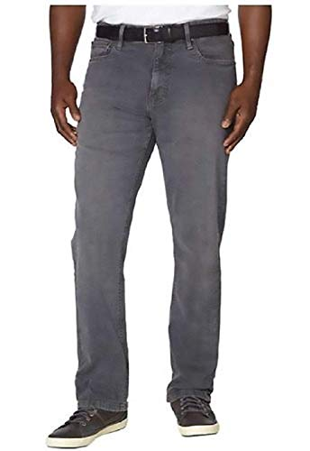Urban Star Mens Relaxed Fit Straight Leg Jeans (Grey, 42W x 32L)