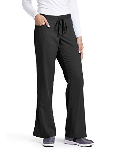 Fit 5 Pocket - Grey's Anatomy Women's Junior-Fit Five-Pocket Drawstring Scrub Pant - Large - Black