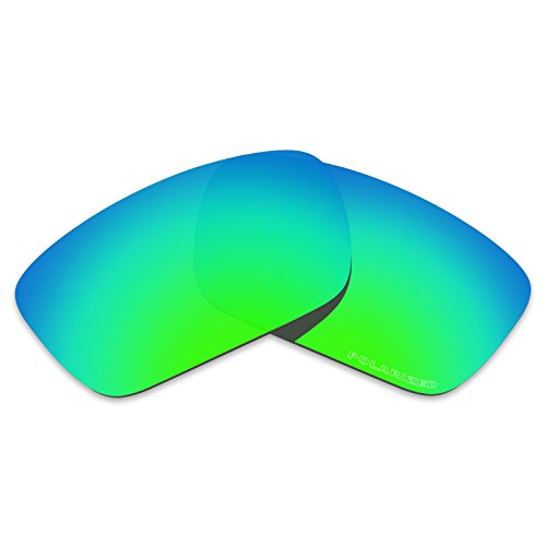 Tintart Performance Lenses Compatible with Oakley Fuel Cell Polycarbonate Polarized Etched-Emerald - Lens Polycarbonate