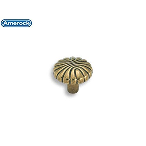 Amerock Natural Elegance 1-7/32 in. (31mm) Cabinet Knob Burnished Brass - BP1337O77