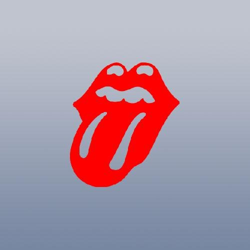 ADHESIVE VINYL ART CAR HELMET TONGUE ROCK BAND CAR DECOR WINDOW WALL ART LAPTOP DECORATION RED VINYL BIKE STICKER DECAL THE ROLLING STONES WALL AUTO