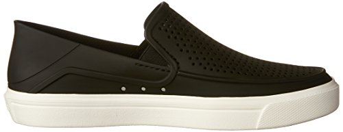 crocs Women's Citilane Roka Slip-On W Flat, Black, 8 M US