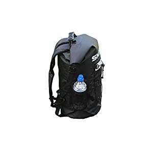 SKORCH Original Dry Bags, Duffle and Waterproof Backpacks - Protect Your Gear From Water and Sand While You Have Fun (Black Waterproof Backpack with Pockets 40L)
