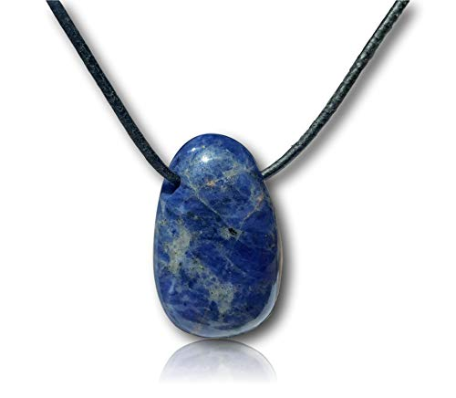 - Orgonite Andy - Crystal Gemstone Necklace - Hand Carved Drop Bead Pendant - 20