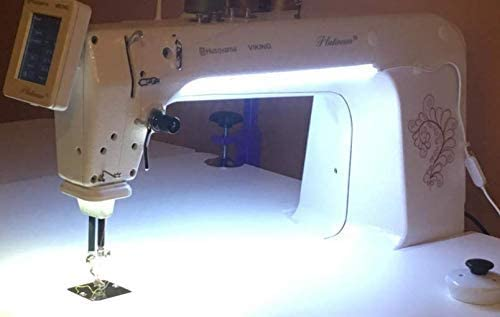 Cool White with 3M Tape Sewing Machine LED Light Suitable for All Sewing Machines 5 Tape Clips 6.6 Foot Line with Touch Dimmer and USB Power Supply