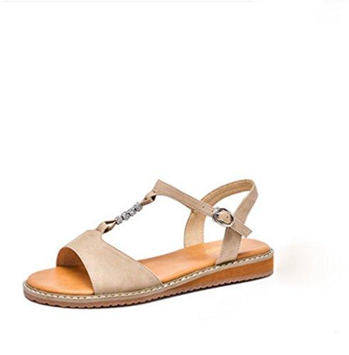 Zapatos weiwei Casual Rhinestones C Planas Abrir Sandalias Playa Toe Mujer De wxqOH46BxY
