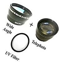 Wide Lens + Tele +UV for Sony HDR-CX330, Sony HDR-CX330E, Sony HDR-PJ330, Sony HDR-PJ340, Sony HDR-PJ350