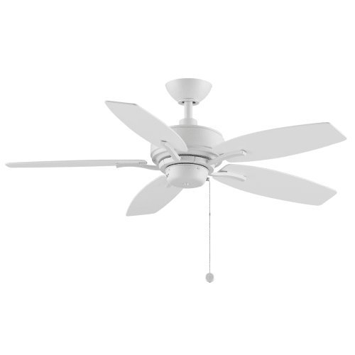 Fanimation Aire Deluxe - 44 inch - Matte White with Matte White Blades with Pull-Chain - FP6244MW by Fanimation