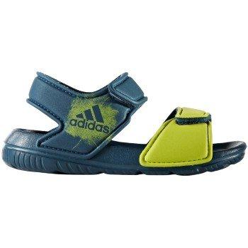 Adidas Performance Boys' Altaswim I, Petrol Night/Semi Solar Yellow/Petrol Night, 9 Medium US Toddler