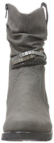 Rieker Y8056, Botines para Mujer Gris (dust/oro/argento/schwarz / 42)