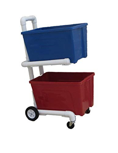 (Recycling Cart - 4 Wheels and Shelves - 2