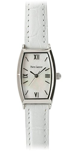 PIERRE LANNIER press watch Tonneau Watch Silver / Croco White P131D690 C11 Ladies