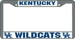Kentucky Wildcats Chrome License Plate Frame