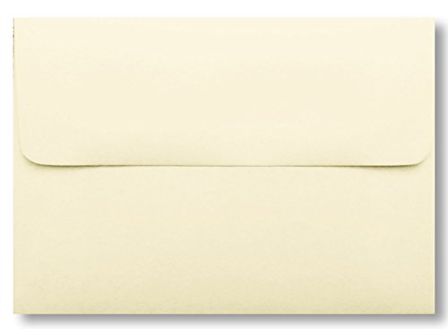 Ivory A1 Envelopes 50 Boxed for 3 3/8 X 4 7/8 Response Cards, Invitations, Announcements Showers Weddings from The Envelope Gallery
