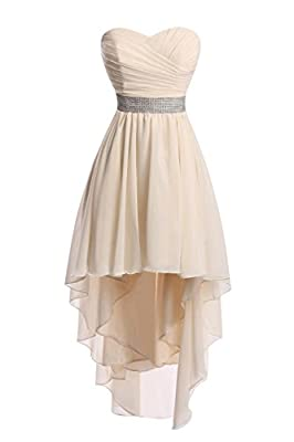 Ellenhouse Chiffon High Low Bridemaid Dresses Homecoming Party Gowns