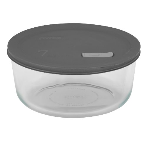 Pyrex No Leak Lids 4 Cup Round Baking Dish with Plastic Lid