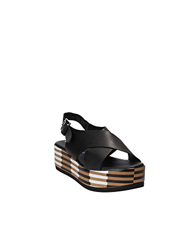Zeppa Shoes Grace Donna Nero Sandalo 56259 YgUw7f