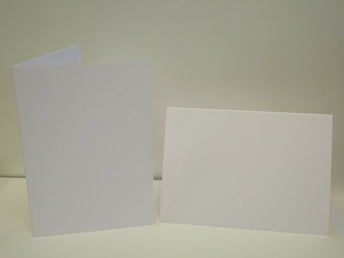 20 x A6 PREMIUM White Watercolour Blank Greeting Cards Single Fold 300gsm AM919 Jackdaw Express