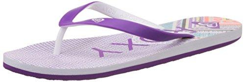 Roxy Tahiti V J Sndl Whp - Sandalias de dedo Mujer Morado - Violett (White / Purple)