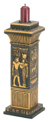 Egyptian Column Votive / Candle Holder - Collectible Egypt Aroma Scent