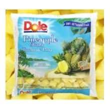 Dole Individual Quick Frozen Chunk Pineapple, 5 Pound - 2 per case.