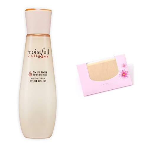 (Etude House Moistfull Collagen Emulsion 180ml + SoltreeBundle Natural Hemp Paper 50pcs)