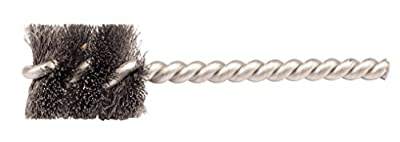 """Weiler 21072 Power Tube Brush, Round Style, 1/4"""", 0.04"""" Steel Wire Fill, 1"""" Length (Pack of 10)"""
