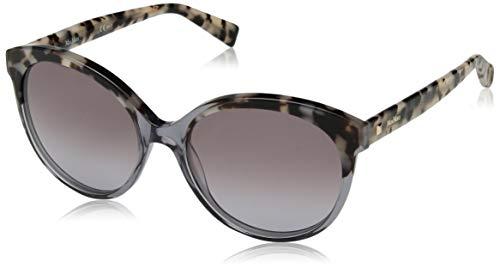 Max Mara Women's Mm Eyebrow I Round Sunglasses, Grey Black Spotted, 56 ()