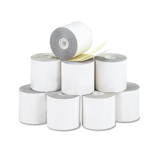 Paper Rolls DMi PK Credit Verification PM Company 2-1//4 x 70 ft White//Canary 10//Pack 09325