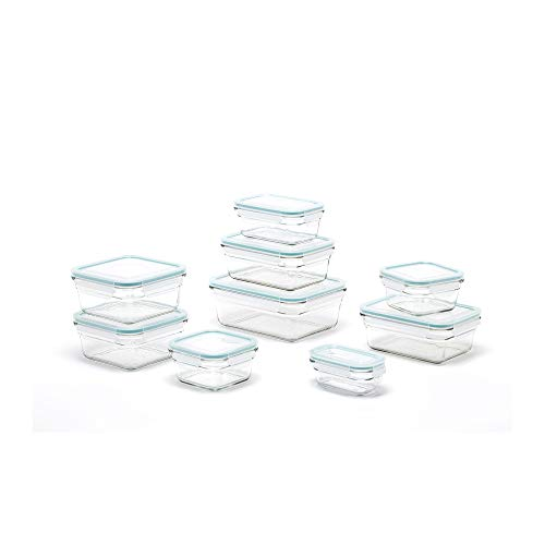 Glasslock Kit - Glasslock Oven and Microwave Safe Glass Food Storage Containers 18 Piece Set