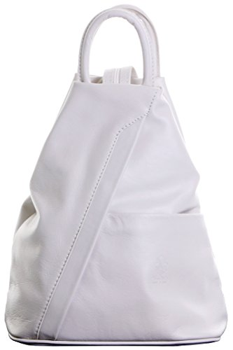 Italian Soft Napa Cream Leather Top Handle Shoulder Bag Rucksack Backpack. Includes Branded Protective Storage Bag