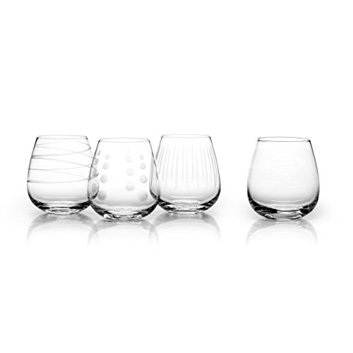 Mikasa Cheers Stemless Wine Glass, 15-Ounce, Set of 4 (Swirl Tumbler Pc)
