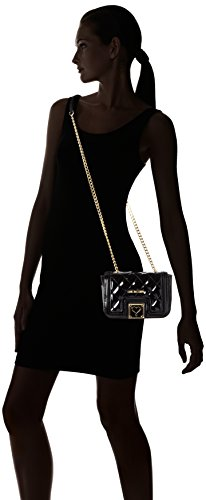 Love Moschino JC4019, Sacs Portés Épaule Femme, Noir (Black), 8x13x20 cm