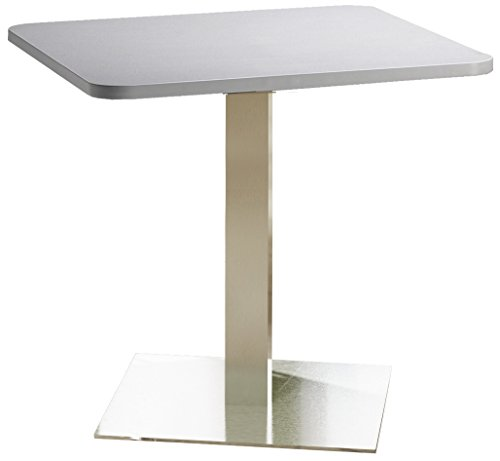 Mayline Bistro Series Square Dining Height Table with Stainless Steel (Mayline Square)
