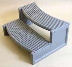 Handi-Step - Low Maintanence Plastic Spa Step - Grey