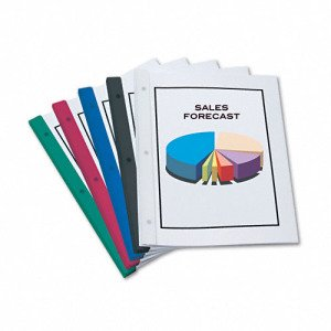 Redi-bind: 3 Hole Binding System; Holds up to 50 Sheets; 5 Per Pack (Black) Redi-Tag