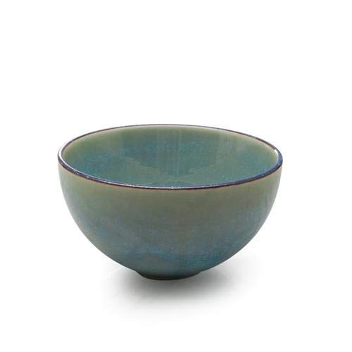 Teal Glazed - BIA CERAMIC Glazed DIP Bowl, 4.5