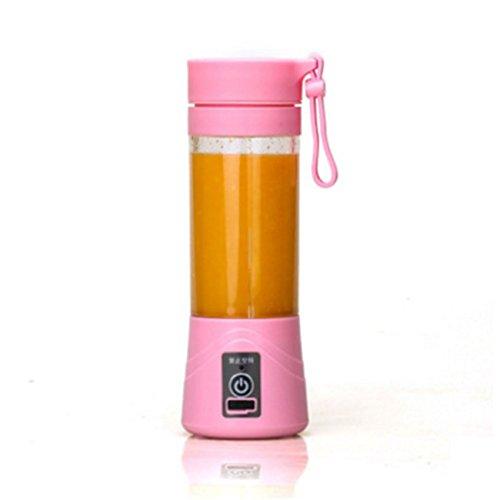 Mengonee Botella recargable de la taza del exprimidor del USB de 380ml Batidora del batido del batido de la fruta del licuador de la fruta de la fruta ...
