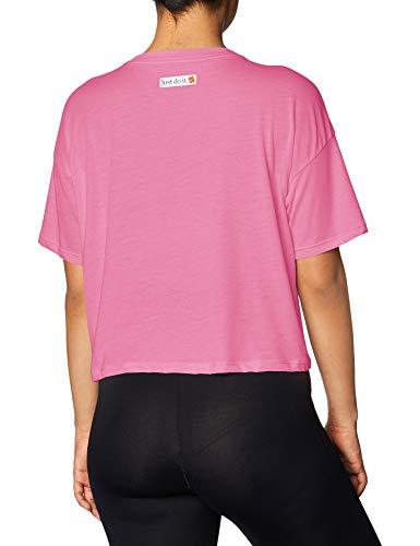 Nike Icon Clash Womens Short Sleeve Training Top (M, Purple/White) 2