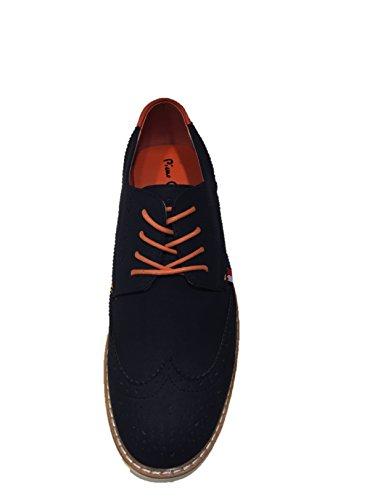 Pierre Cardin - Zapatos de cordones de Material Sintético para hombre azul navy 41