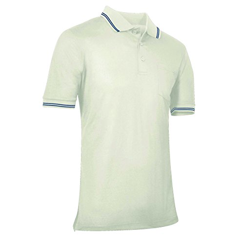 CHAMPRO Umpire Polo Shirt; Adult Cream, X-Large ()