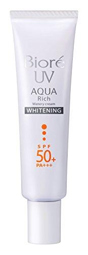 Biore SARASARA UV Aqua Rich Whitening Cream Sunscreen 33g SPF50+ PA+++ for Face